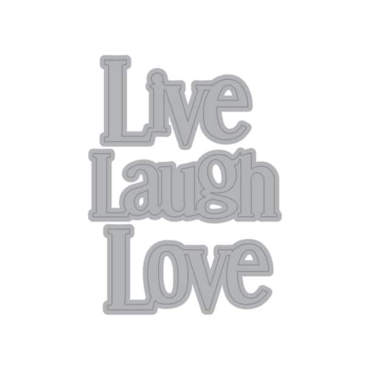 shop for the live laugh love cutting dies by recollections at michaels