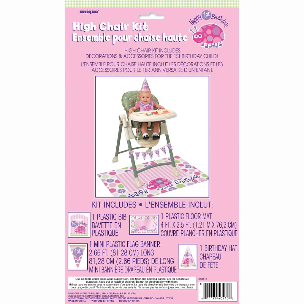 Ladybug First Birthday High Chair Kit Img