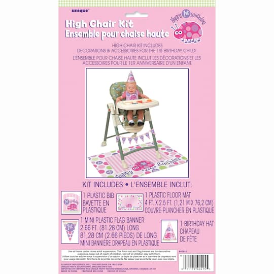 Ladybug First Birthday High Chair Kit