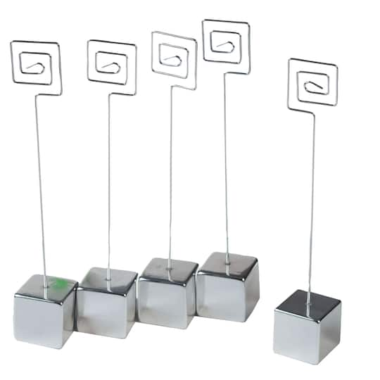 victoria lynn silver cube and wire place card holders. Black Bedroom Furniture Sets. Home Design Ideas