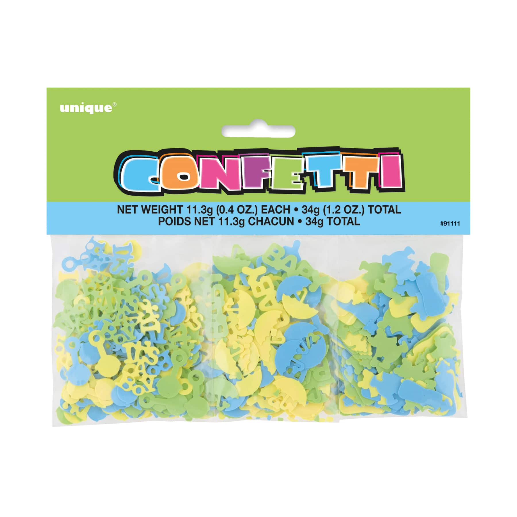 Blue Baby Shower Confetti Assorted 3pk