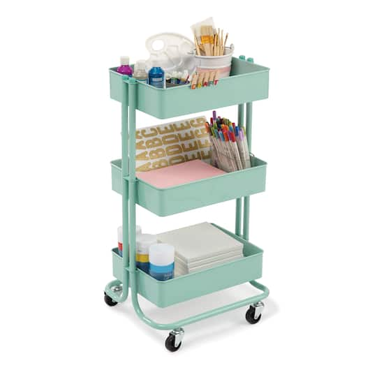 find the mint lexington 3 tier rolling cart by recollections at