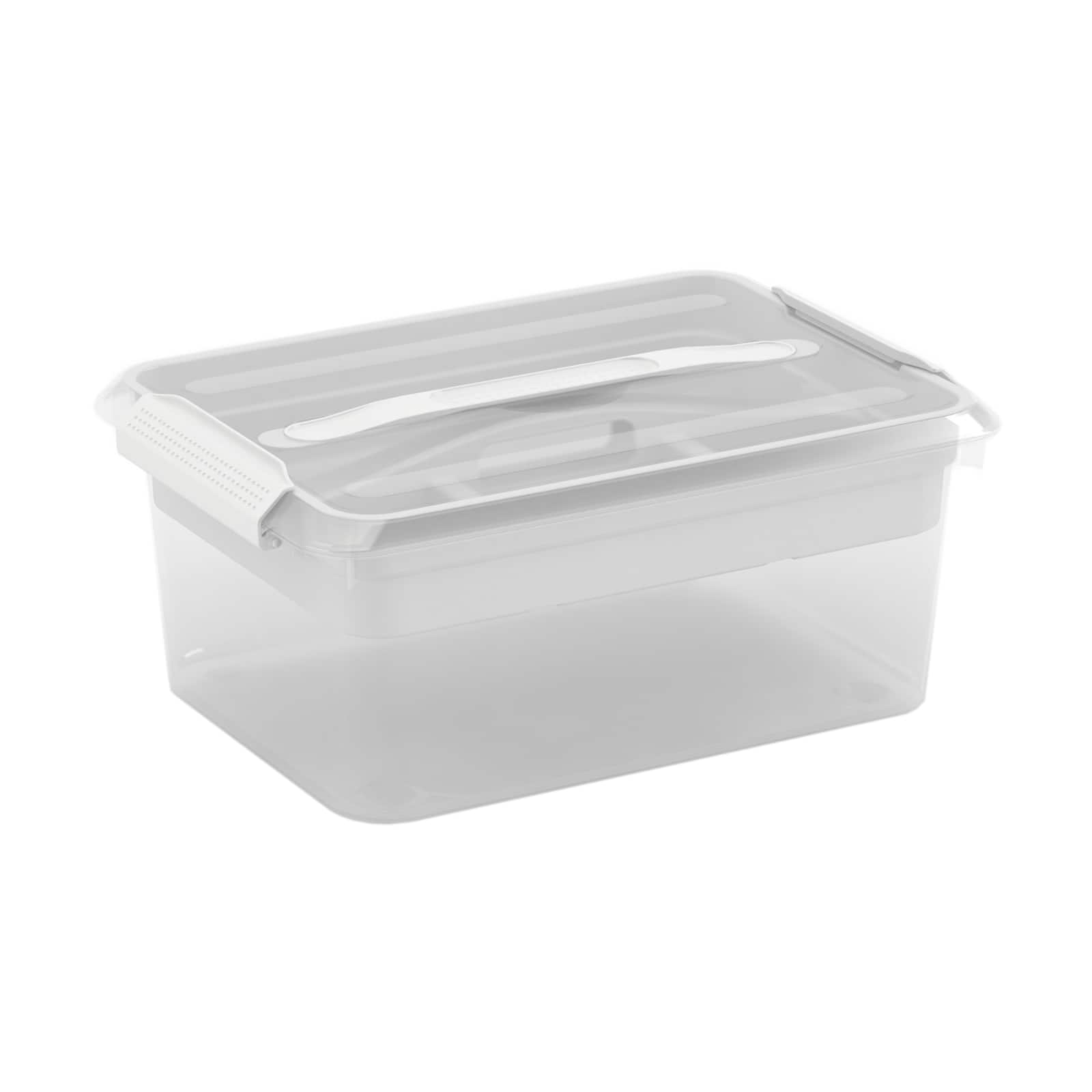 Latchmate White Storage Box With Tray By Recollections™