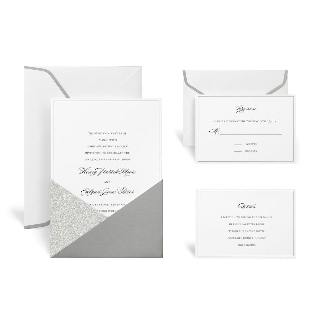Find the Silver Glitter Wedding Invitation Kit By Celebrate It™ at ... c67bb6b6f294