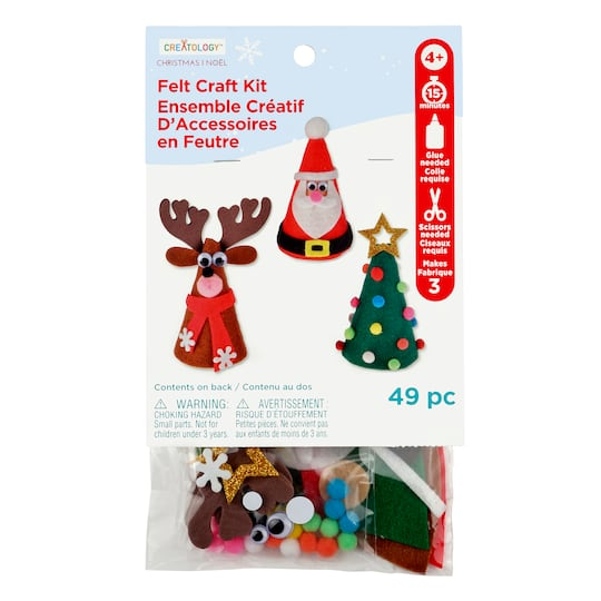 christmas felt cone kit by creatology