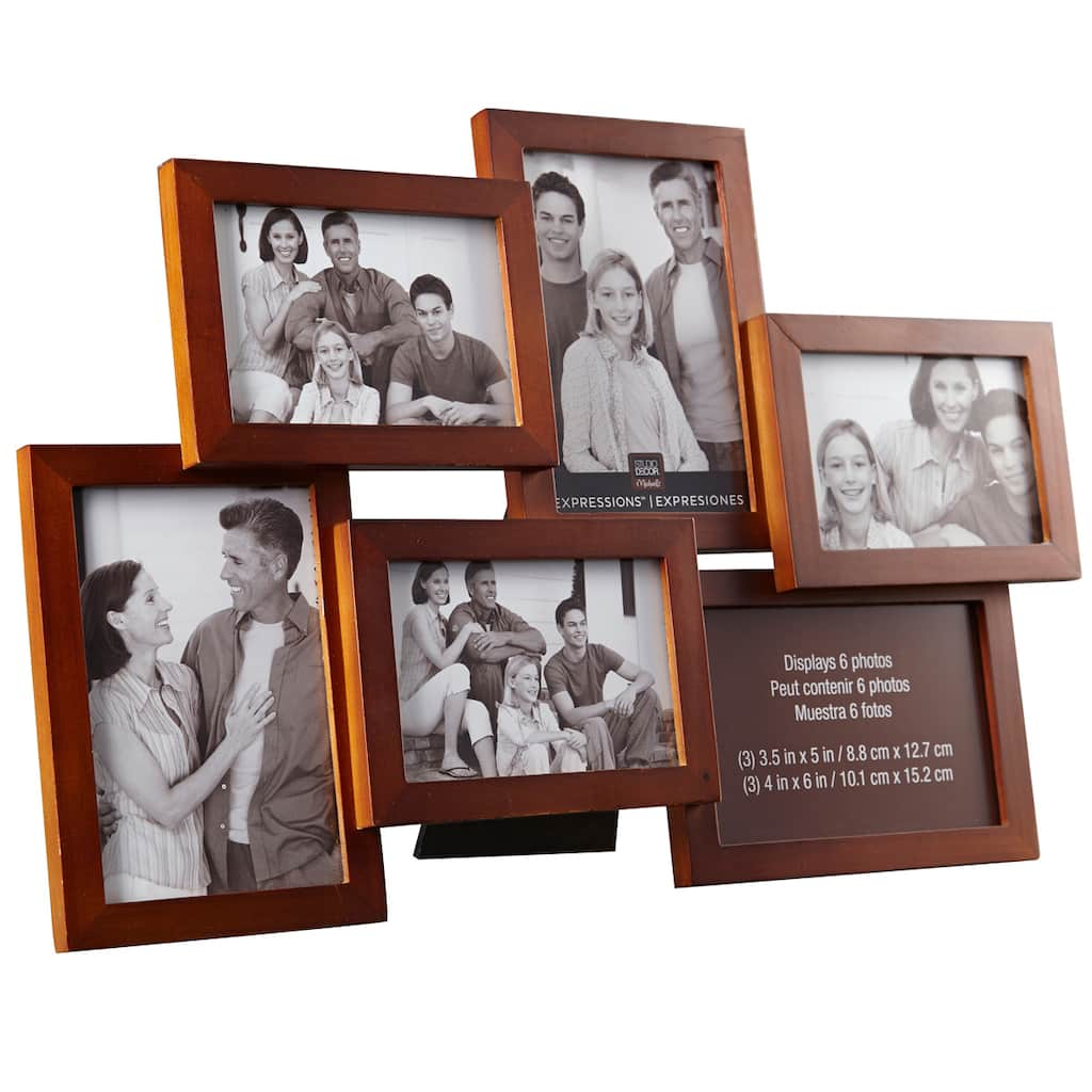 Walnut 6 Opening Collage Frame Expressions By Studio Décor