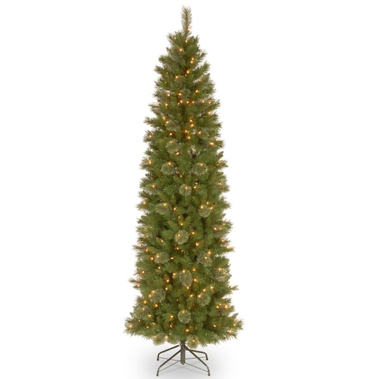 Pre-lit Tacoma Pine Pencil Artificial Christmas Tree, Clear Lights - Buy The 7.5 Ft. Pre-lit Tacoma Pine Pencil Artificial Christmas Tree