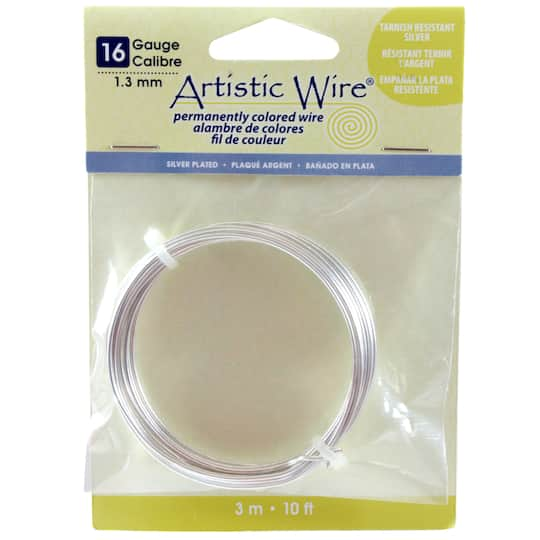 Artistic Wire 174 Silver Plated 16 Gauge