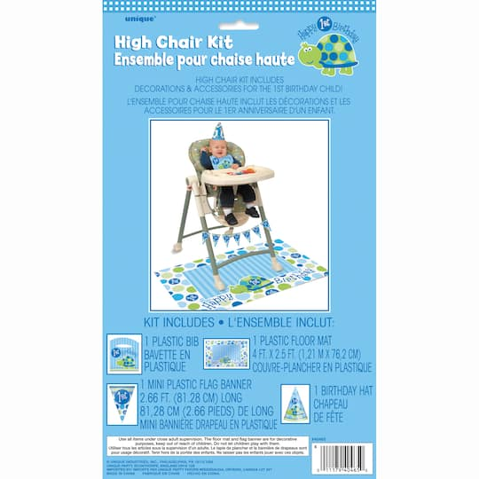 Turtle First Birthday High Chair Kit