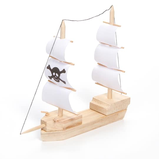 Darice Pirate Ship Wood Model Kit