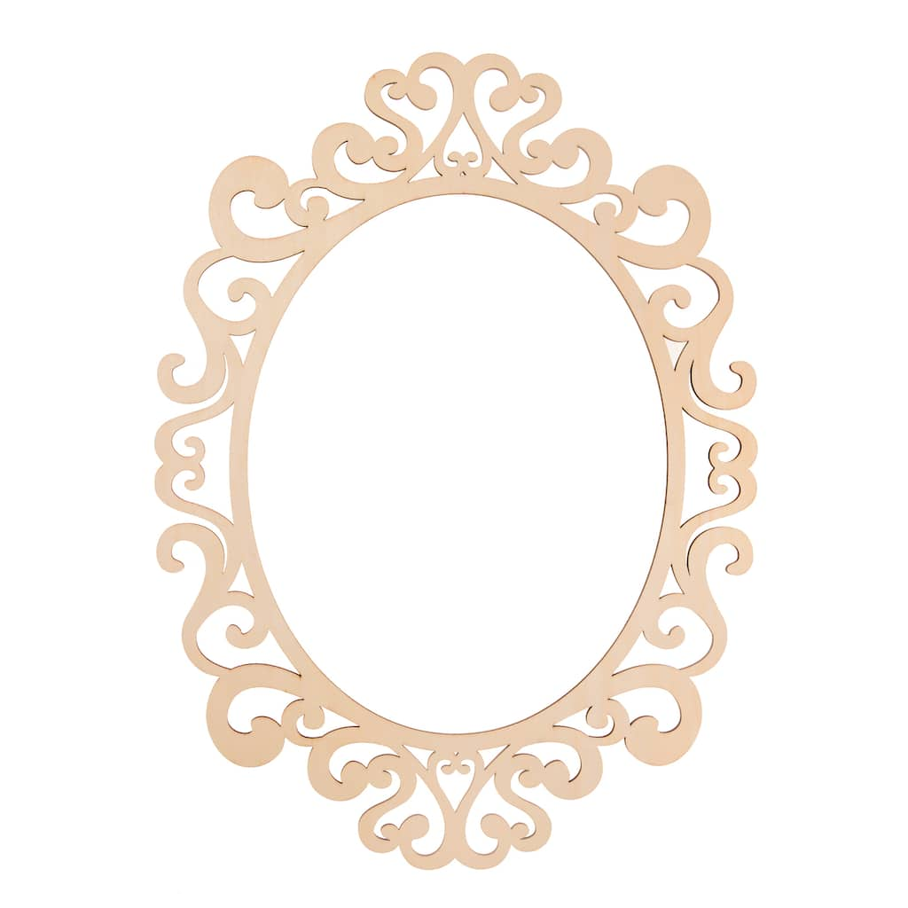 Fancy Oval Laser Cut Wood Frame By Artminds 11 X 14