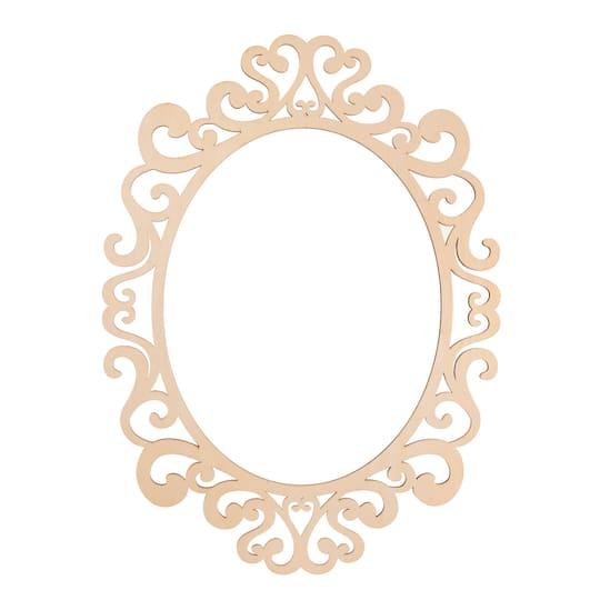 Fancy Oval Laser Cut Wood Frame by ArtMinds®, 11\