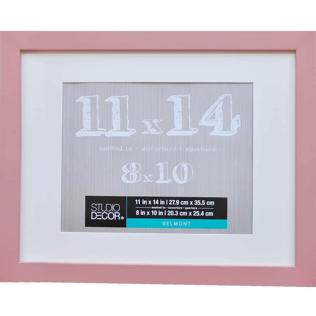 Salmon belmont frame with mat by studio décor