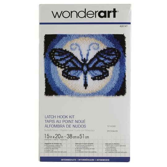 Wonderart Latch Hook Kit Erfly Moon