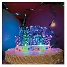 Flashing Happy Birthday Cake Topper