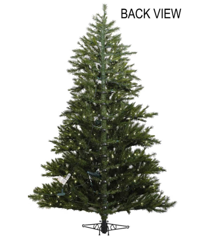 sports shoes cd254 d92c7 6.5 Ft. Pre-Lit Westbrook Pine Artificial Half Wall Christmas Tree, Clear  Lights