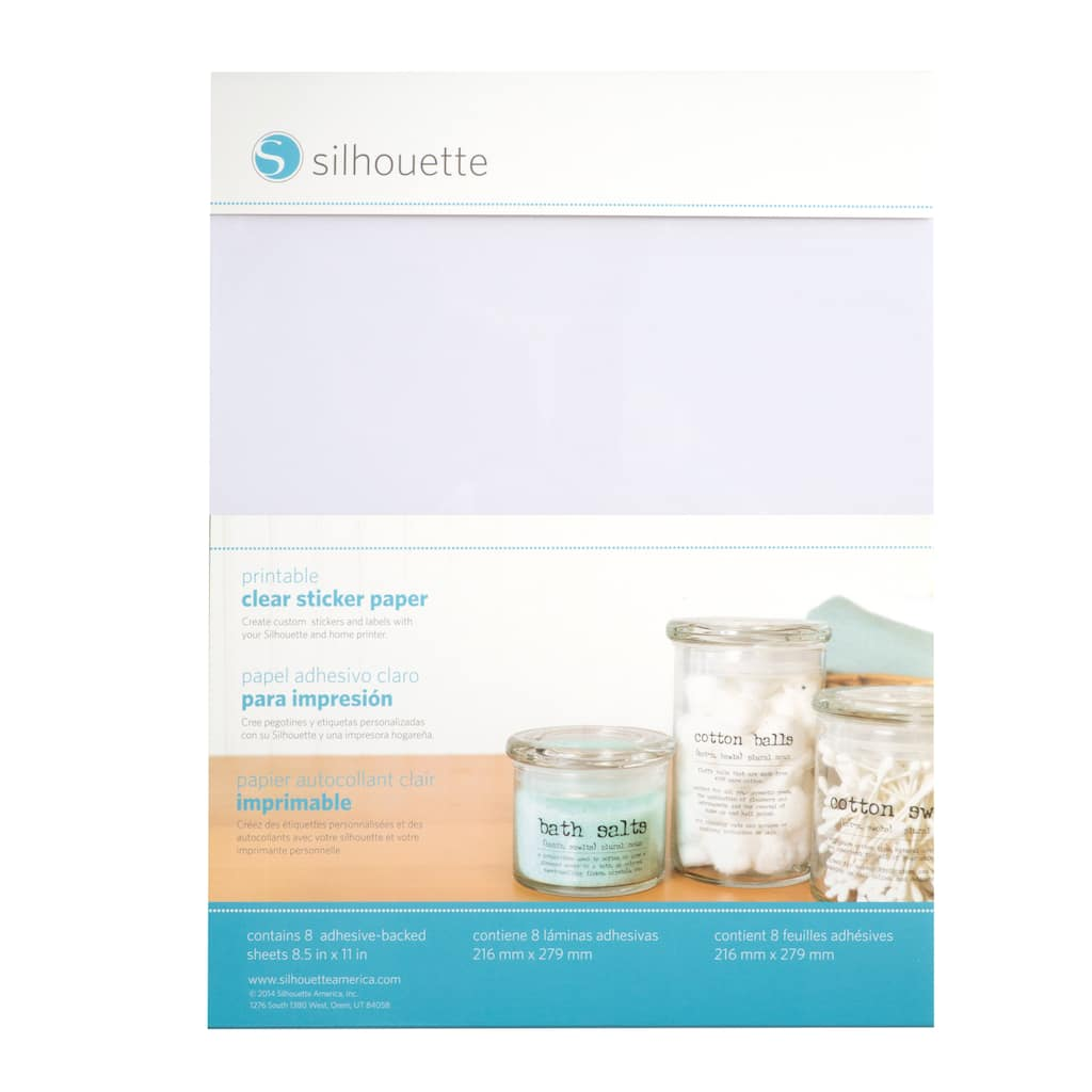 Silhouette® Printable Clear Sticker Paper