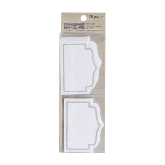Shop For The White Silver Place Cards By Celebrate ItTM Occasions