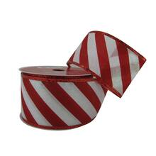 25 taffeta wired candy cane ribbon by celebrate it noel