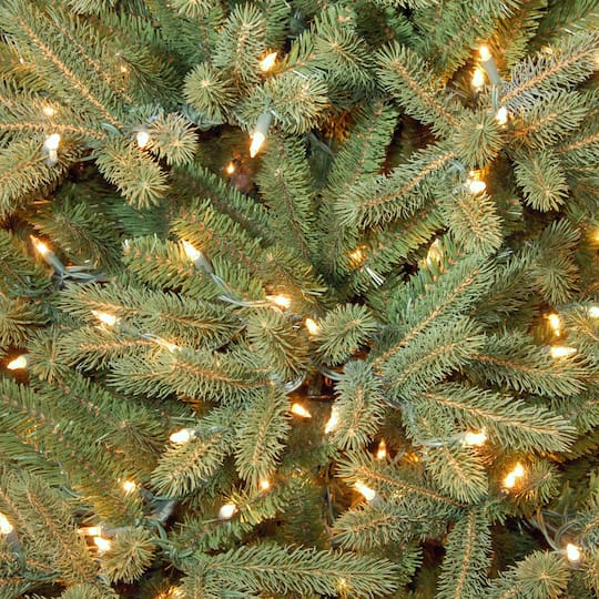 12 Ft. Pre-Lit Feel Real® Jersey Fraser Fir Pencil Slim Artificial Christmas Tree, Clear Lights