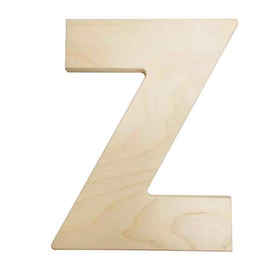 large wooden letters 12 inch unfinished wood letter z