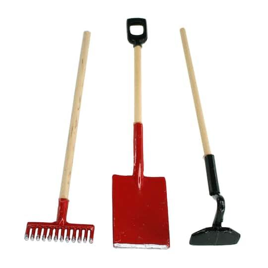 Miniatures Garden Rake Hoe Shovel by ArtMinds™