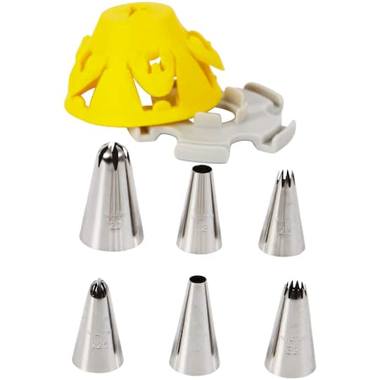 Purchase The Wilton 174 Cupcake Tip Set With Silicone Stand