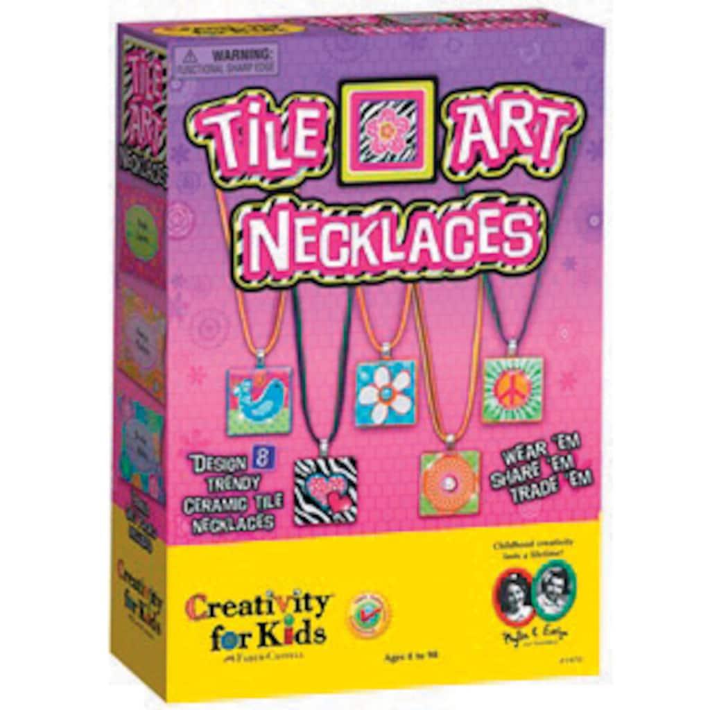 Creativity For Kids Ceramic Tile Art Necklace Kit