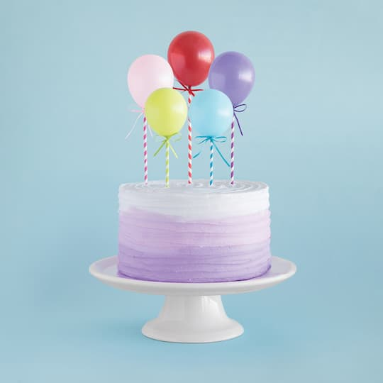 Mini Balloon Stick Cake Toppers 5ct