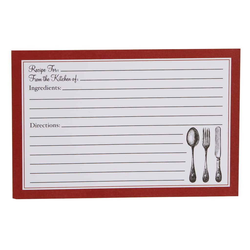 This is an image of Sweet Blank Recipe Card