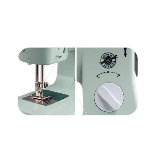 Buy the Purple Desktop Sewing Machine By Loops Threads™ at Michaels Beauteous Starter Sewing Machine Kit