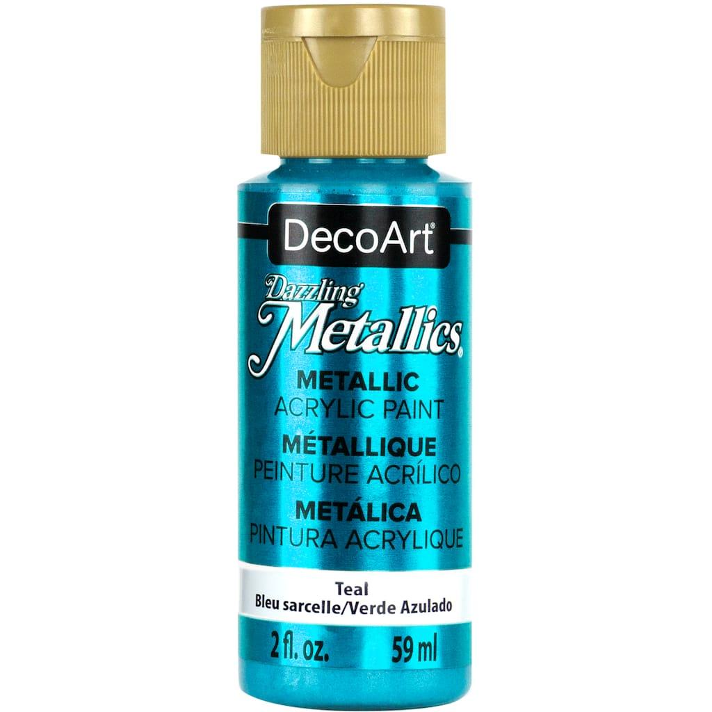 Find the DecoArt® Dazzling Metallics® Metallic Acrylic Paint at Michaels