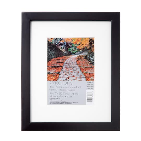 Darice 174 Flat Black Frame 8 Quot X 10 Quot Matted To 5 Quot X 7 Quot