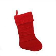 get the 19 traditional velvet christmas stocking red at michaels - Felt Christmas Stocking Kits Michaels