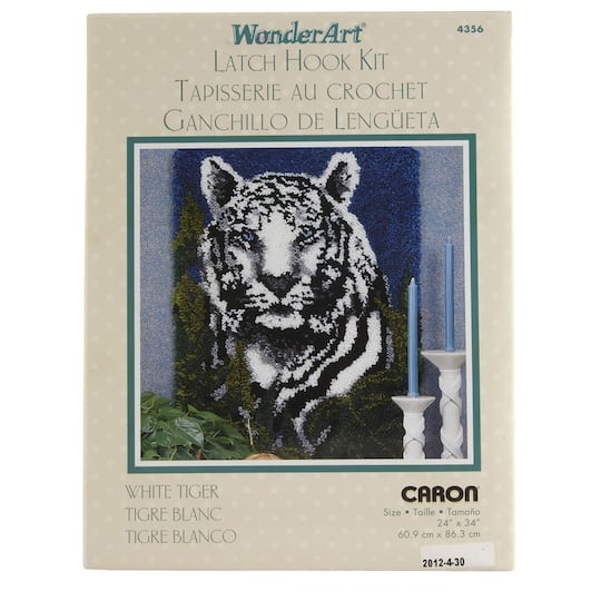 Wonderart Latch Hook Kit White Tiger