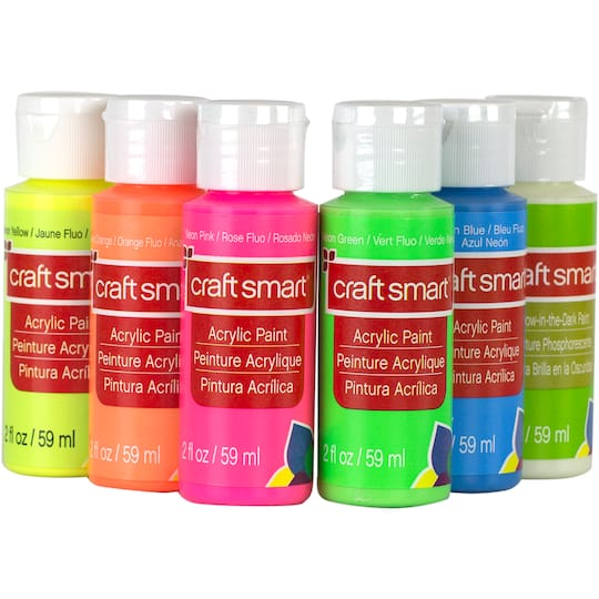 buy the neon glow acrylic paint value set by craft smart at michaels