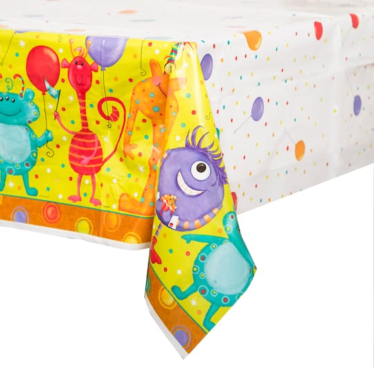 Plastic Party Monsters Table Cover 84 X 54