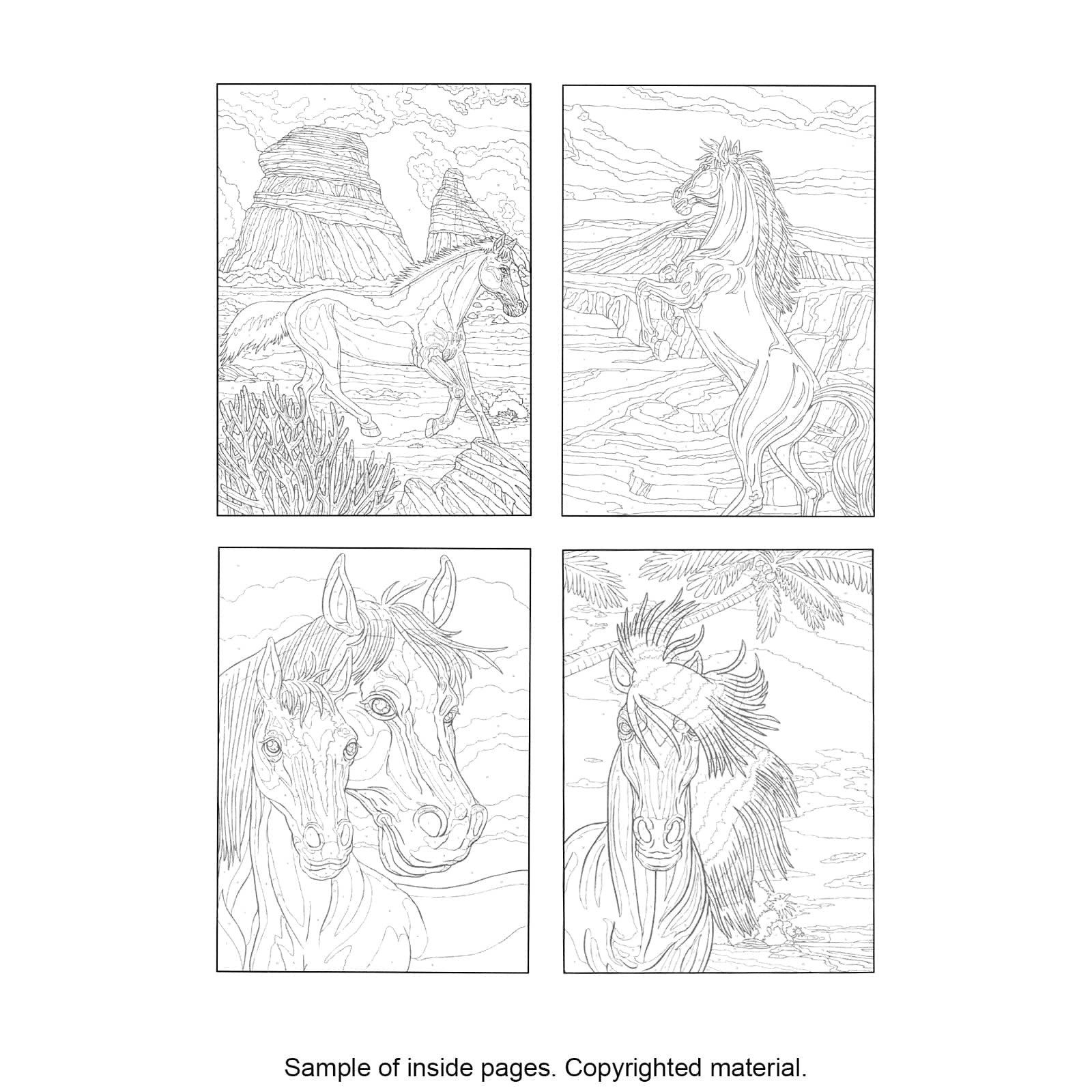 Creative Haven® Horses Color by Number Coloring Book