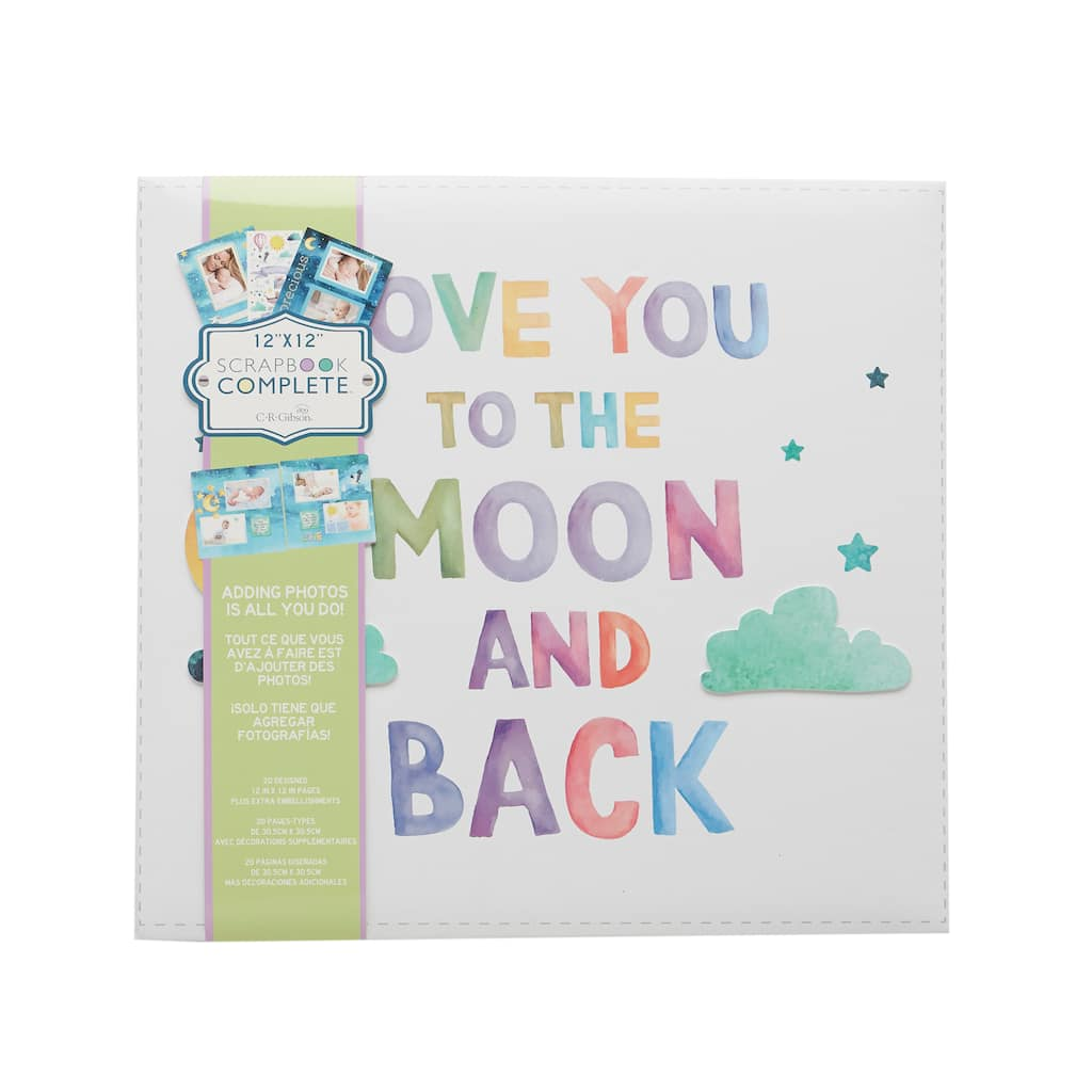 Buy The Cr Gibson Love You To The Moon Scrapbook At Michaels