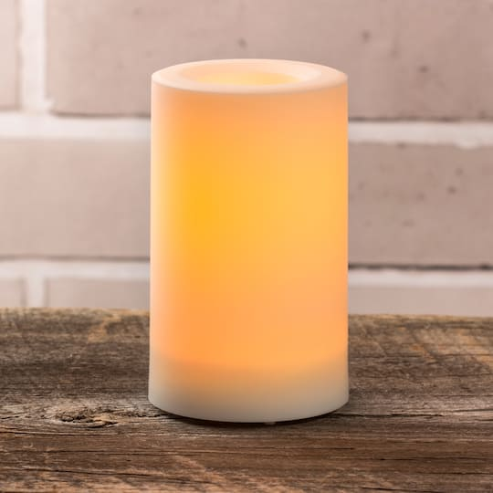 8 Led Outdoor Pillar Candle, Outdoor Flameless Candles With Remote