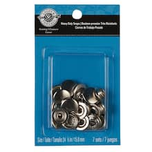 Loops & Threads Heavy Duty Snaps, Silver