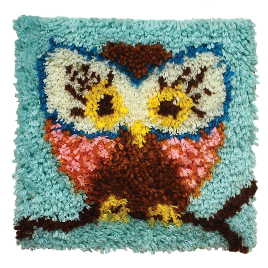 Wonderart Latch Hook Kit Hoot