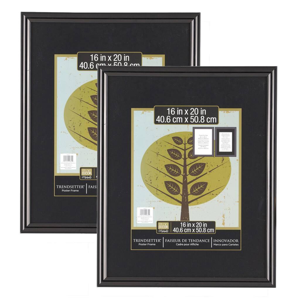 trendsetter 2 pack poster frames by studio d cor. Black Bedroom Furniture Sets. Home Design Ideas