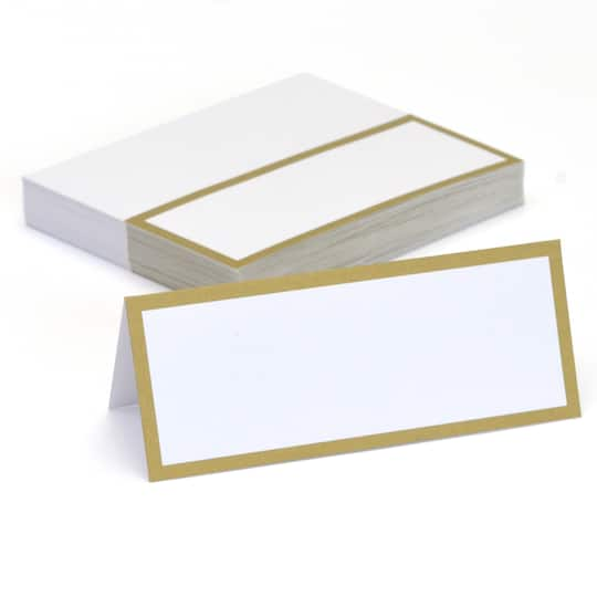Shop For The Gold Border Place Cards By Celebrate ItR At Michaels