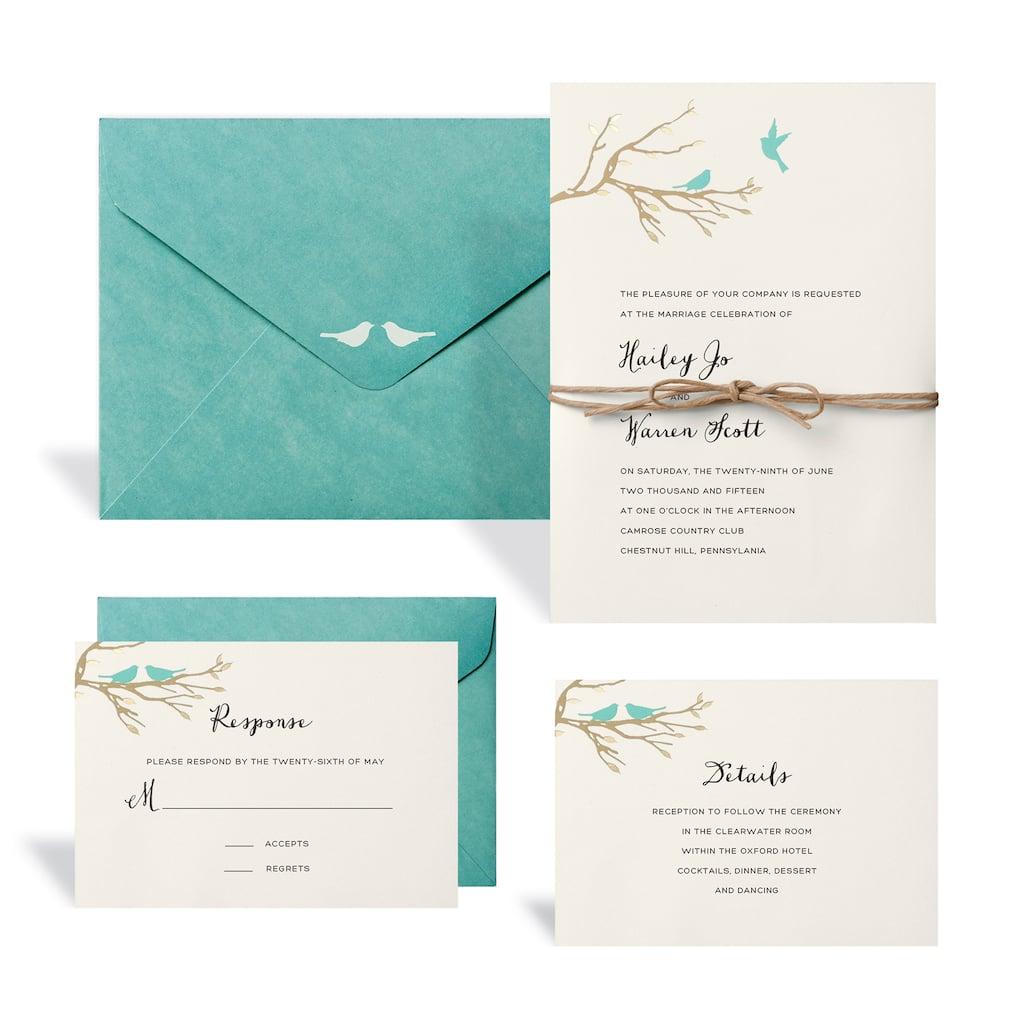 Love Birds Wedding Invitation Kit By Celebrate It