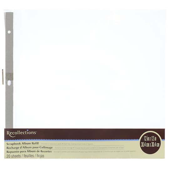 Buy The Scrapbook Album Refill Value Pack By Recollections At Michaels