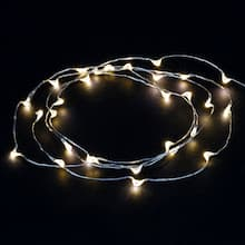 Shimmer Lights White Led String By Ashland