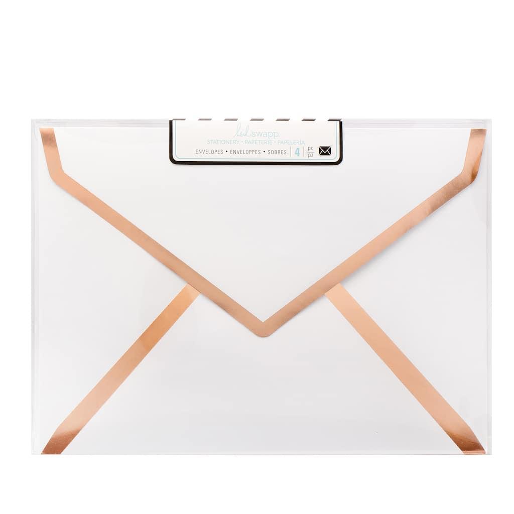 buy the heidi swapp a7 envelopes white foil at michaels