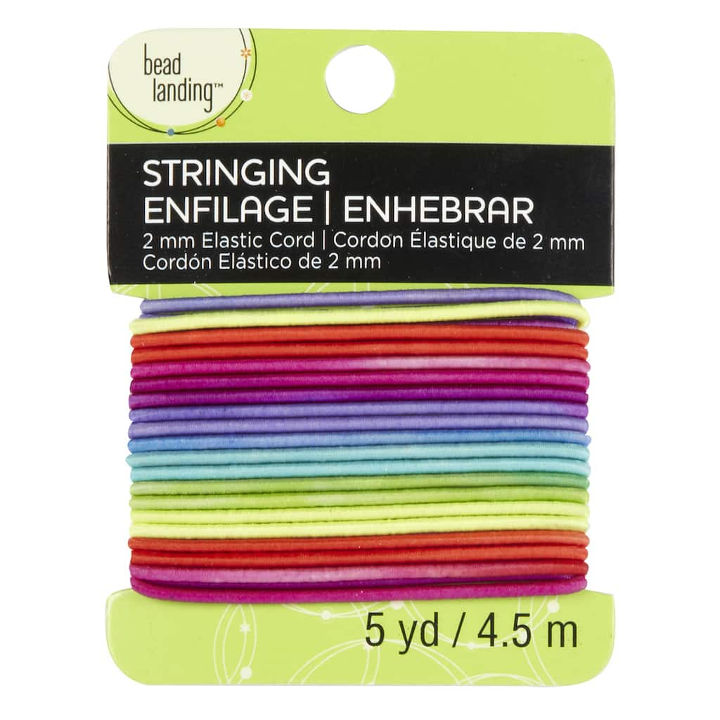 Bead Landing Elastic Cord 2 Mm Multicolored