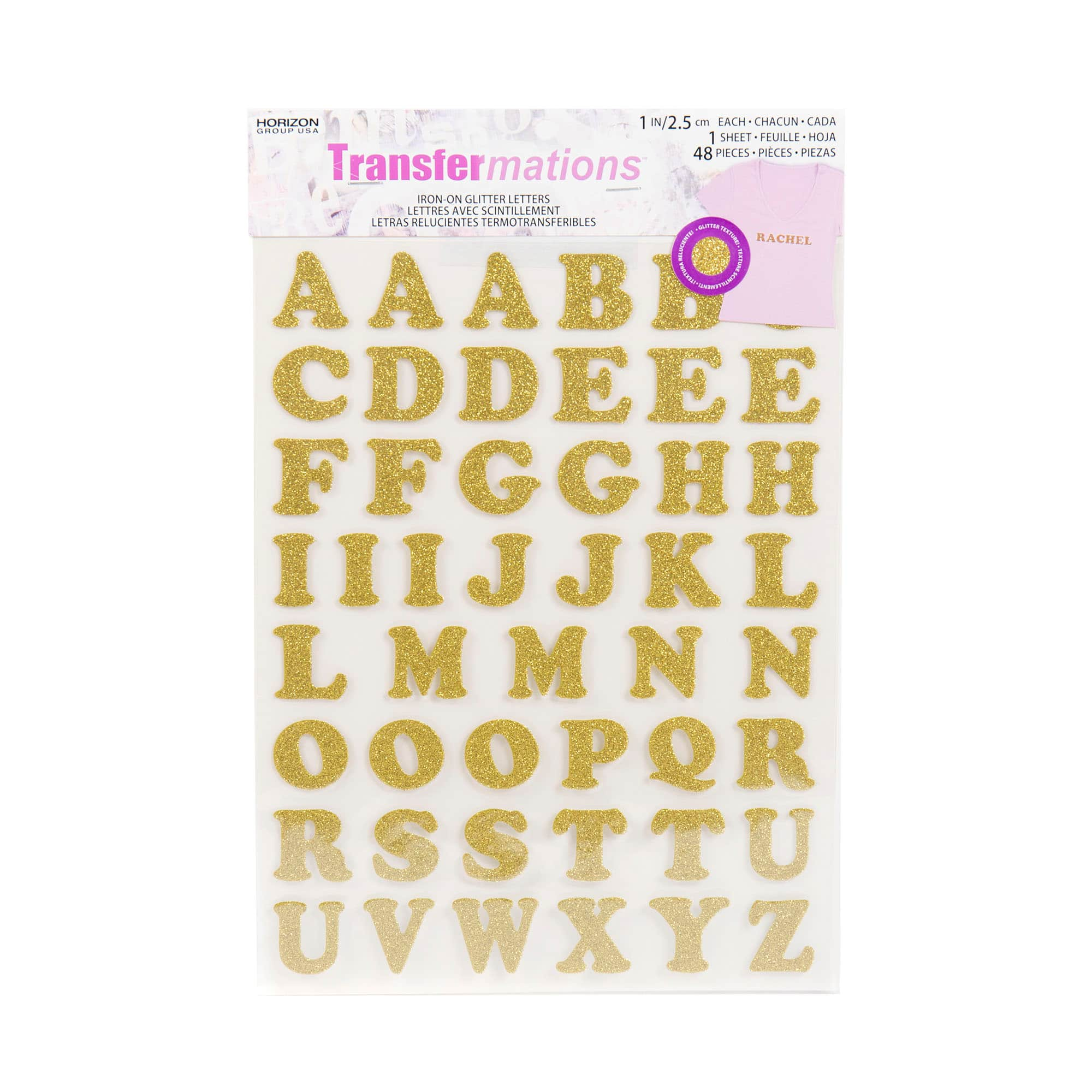 Letters or Numbers Vinyl Printing One Inch Yellow Iron On Characters